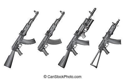 russe, fusil