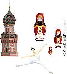 russe, symboles