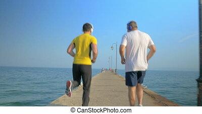 séance entraînement, extérieur, exercice, arrière