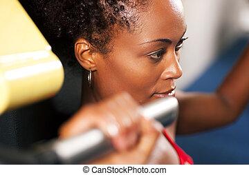 séance entraînement, gymnase, fitness