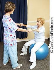 séance entraînement, thérapie physique