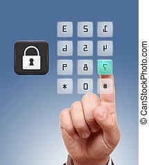 sécurité, concept, protection, internet
