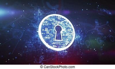 """sécurité, """"keyhole., concept"""", internet"""