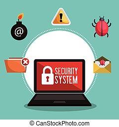 sécurité, protection, données, système, réseau