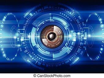 sécurité, vecteur, système, fond, résumé, avenir, illustration technologie