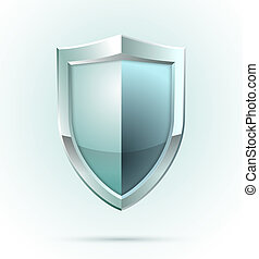 sécurité, vide, bouclier, icône
