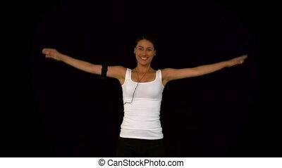 séduisant, exercice, femme