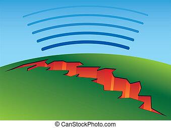 séisme, fissure