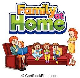 séjour, maison famille