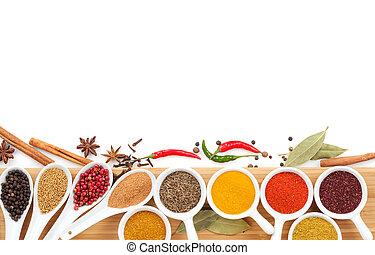 sélection, divers, épices