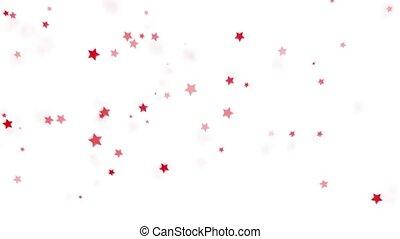 séparément, rouges, explosion, étoiles, fond blanc, mouche