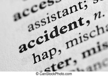 série, accident, -, dictionnaire