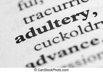 série, -, dictionnaire, adultère