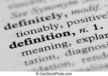 série, -, dictionnaire, définition