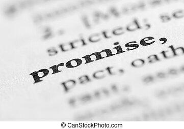 série, -, promesse, dictionnaire