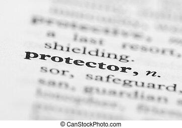 série, protecteur, -, dictionnaire
