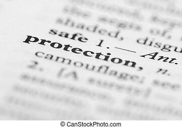 série, protection, -, dictionnaire