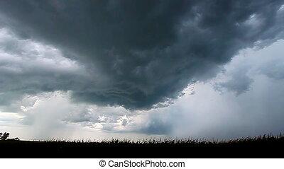 sévère, orage, éclair