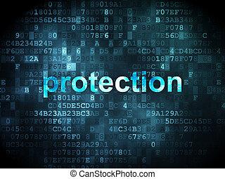 sûreté protection, concept:, fond, numérique