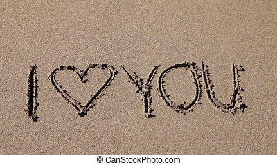 sable, amour, vous, écrit