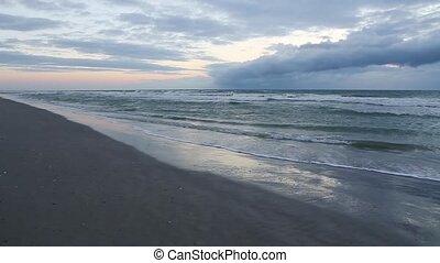 sable, ciel, ressac, boucle