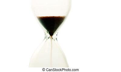sable, closeup., horloge