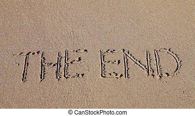 sable, dessiné, fin