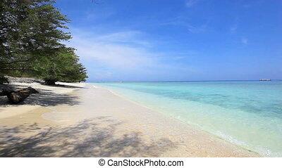 sable, exotique, ressac, plage