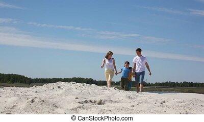 sable, famille, va, heureux