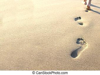 sable, humain, encombrements
