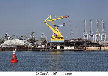 sable, industrie, port