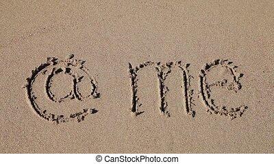 sable, me, e-mail, écrit