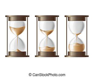 sable, tomber, hourglass.