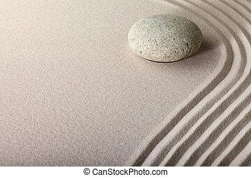 sable, zen, jardin pierre