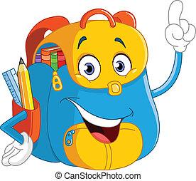 sac à dos, dessin animé
