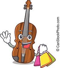 sac à provisions, onduler, violon, tenue, heureux, riche
