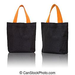sac, blanc, noir, tissu, fond