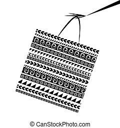 sac, conception, achats, ton, main