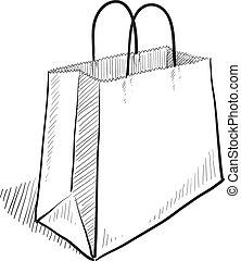 sac, croquis, achats