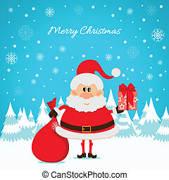 sac, rouges, claus, santa