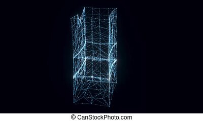 sac, tourner, papier, hologramme