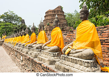 sacré, buddhas, rang