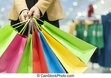 sacs, achats femme, tenue