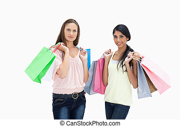 sacs, achats, filles