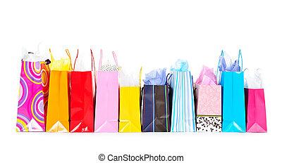 sacs, achats, rang
