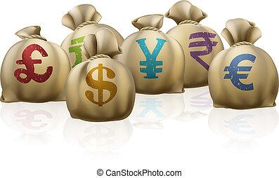 sacs, argent