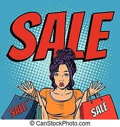 sacs, femme, vente