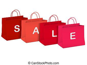 sacs provisions, -, vente, saisonnier