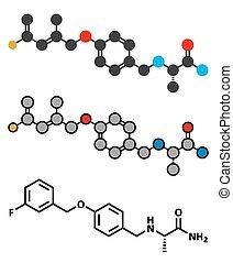 safinamide, parkinson's, maladie, drogue, molecule.