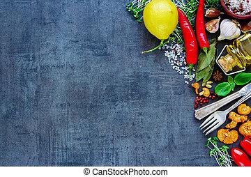 sain, bio, nourriture